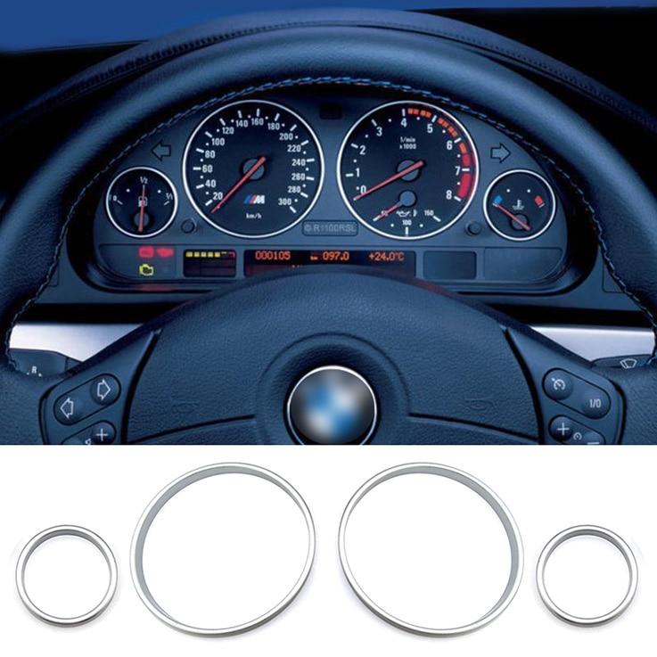 Dashboard dial Dash Ring Car Accessories interior decorative Speed Meter Gauge Cluster Bezel For BMW E38 E39 E53 X5 M5