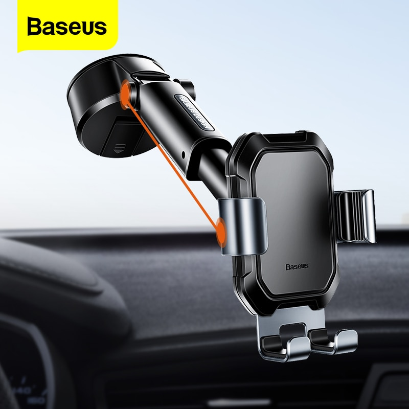 aliexpress.com - Baseus Gravity Car Phone Holder Suction Cup Adjustable Universal Holder Stand in Car GPS Mount For iPhone 12 11 Pro Max Xiaomi 9