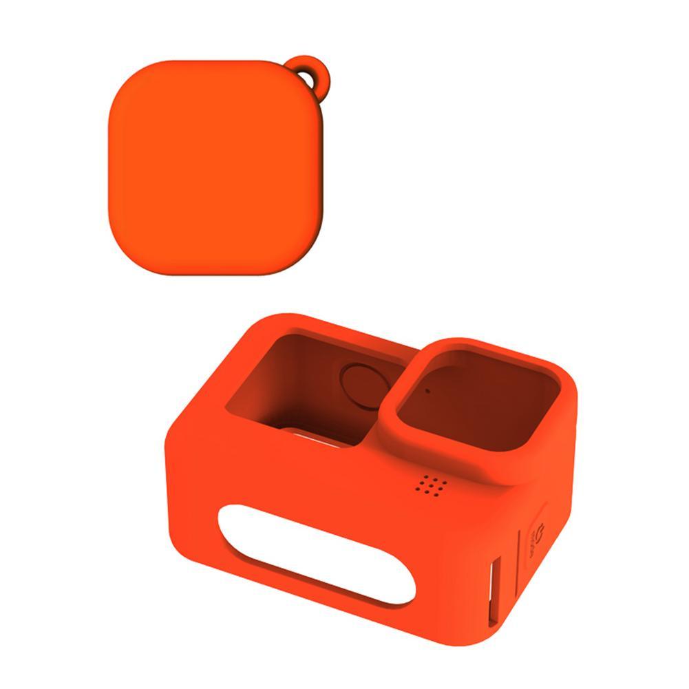 Alta qualidade câmera capa de silicone câmera capa de silicone conjunto para gopro hero 9 câmeras esportivas preto branco laranja vermelho