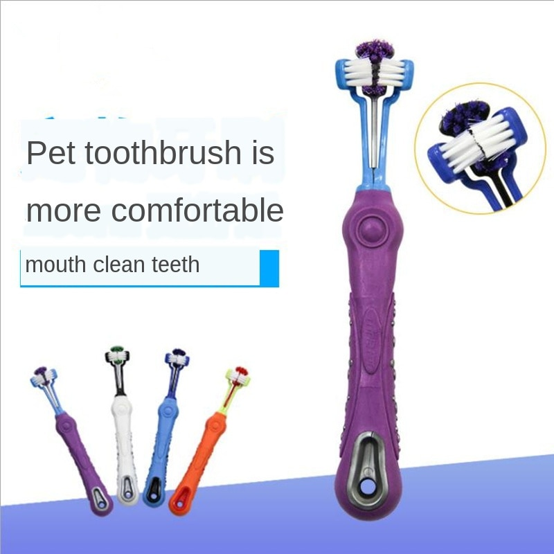 Двусторонняя зубная щетка для животных, щетка для собак, уход за зубами, уход за зубами, уход за собаками, кошками