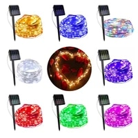 outdoor solar string lights 12 pack waterproof solar powered fairy lights 8 modes solar copper wire fairy lights for xmas patio