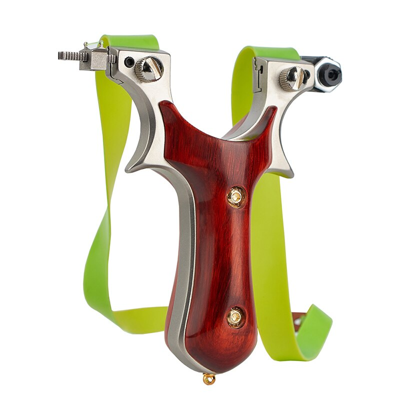 Sandalwood Stainless Steel Slingshot 360g Shooting Game Bird Shooting Aiming Outdoor Sports Suitable For Adults And Children