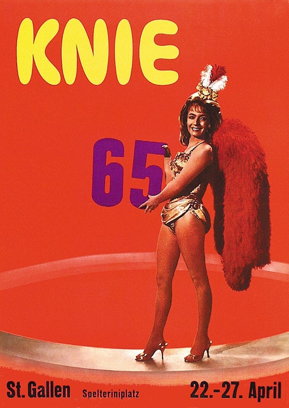 Suiza circo Ads Circo Knie 1965 lienzo clásico pinturas pared vintage carteles pegatinas decoración del hogar regalo