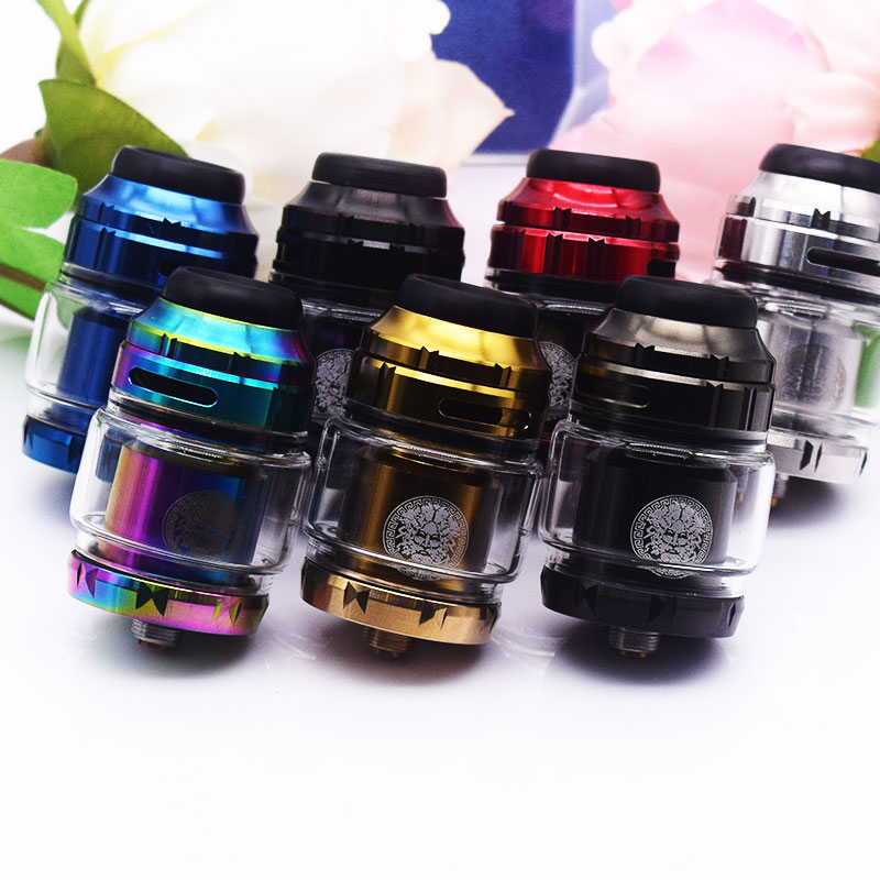 Zeus X RTA 4.5ml Tank Capacity with 810 Delrin Drip Tip Electronic Cigarette Atomizer vs dead Rabbit / INTAKE Expromizer V4 MTL