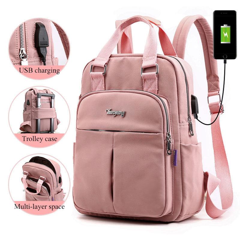 Girls Laptop Backpacks Pink Men USB Charging Bagpack Women Travel Backpack School bags Bag For boys Teenage mochila escolar 2021