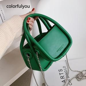Маленькие женские сумочки, модная однотонная сумка-мессенджер через плечо из искусственной кожи, Женский кошелек, повседневные сумки-тоуты в стиле ретро, Новое поступление 2021