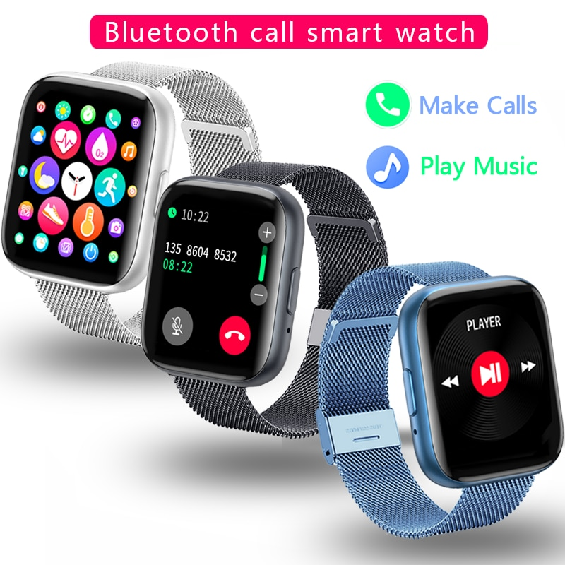 Smart Watch Men Bluetooth Call Pedometer Watches Men Sport Fitness Tracker Heart Rate BP Fashion Bra