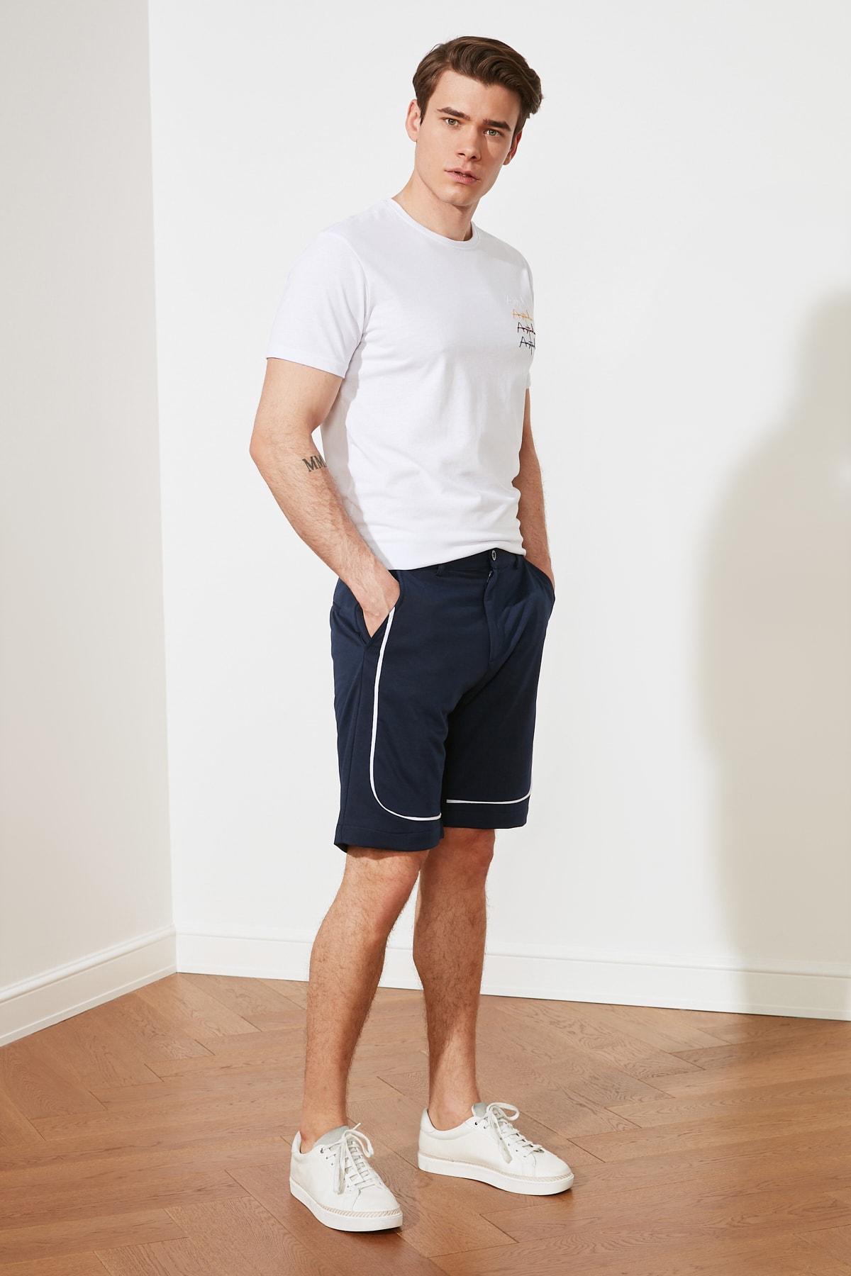 Trendyol Men 'S Regular Fit Shorts & Bermuda TMNSS21SR0242