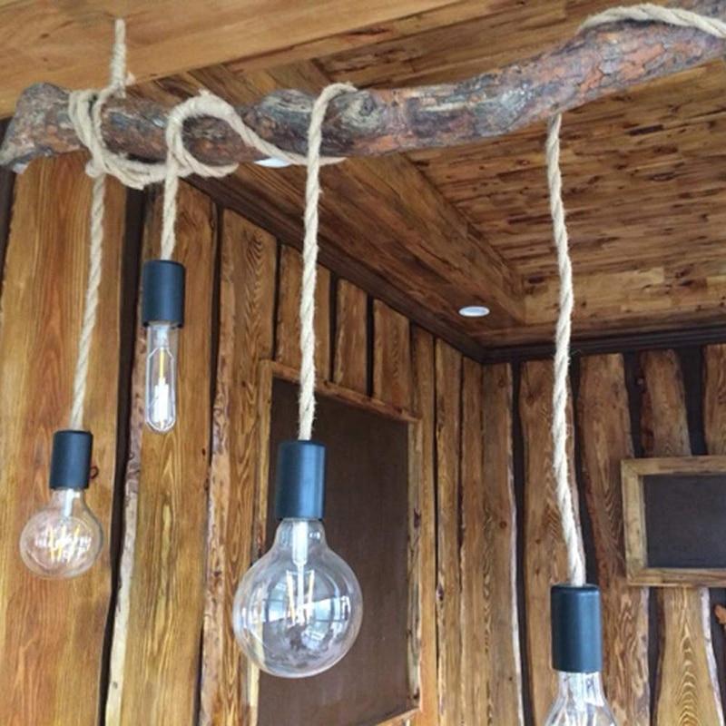 Cuerda de cáñamo de alambre Retro de 20 metros, cable textil trenzado, cable Retro, línea de araña
