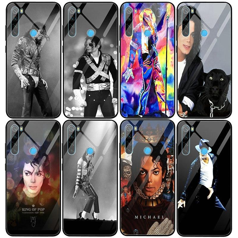 Fundas de teléfono móvil de cristal templado para Xiaomi Redmi Note 4 4X 5 5A 6 7 7A 8 8A 9 SE Pro Lite, Michael Jackson, Dance Music