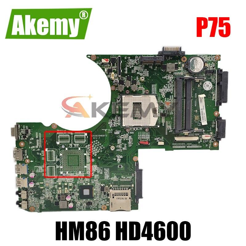 AKEMY DA0BDBMB8F0 A000241250 ل toshiba satellite P70 P75 اللوحة المحمول HM86 HD4600