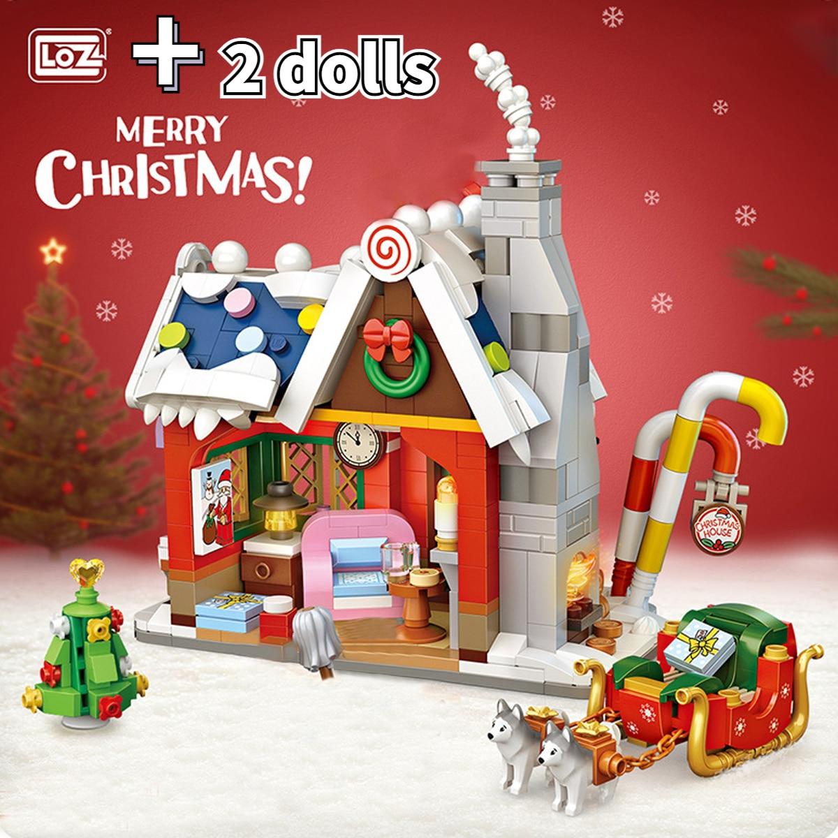 LOZ технические кирпичи, милый Рождественский набор, игрушки для детей, игрушки, Санта-Клаус, детские подарки, подарок для девочек, новый год ... 18 104 набор для изготовления интерьерной игрушки ксюша 26см