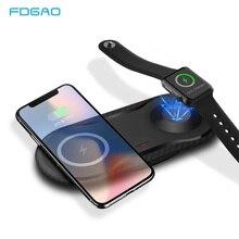 Быстрое беспроводное зарядное устройство FDGAO 2 в 1 Qi для iPhone 12, 11 Pro, XS, XR, X, 8 Plus, 10 Вт, максимальный коврик для зарядки для Apple Watch SE/6/5/4/3/2