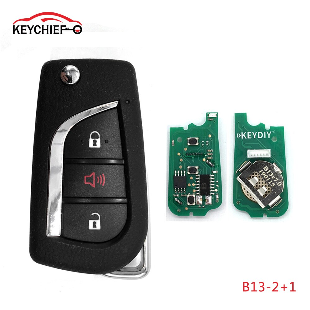 5 unids/lote Universal KEYDIY serie B 3 botones mando a distancia B13-2 + 1 para programador de llaves KD900 KD900 + URG200 KD-X2
