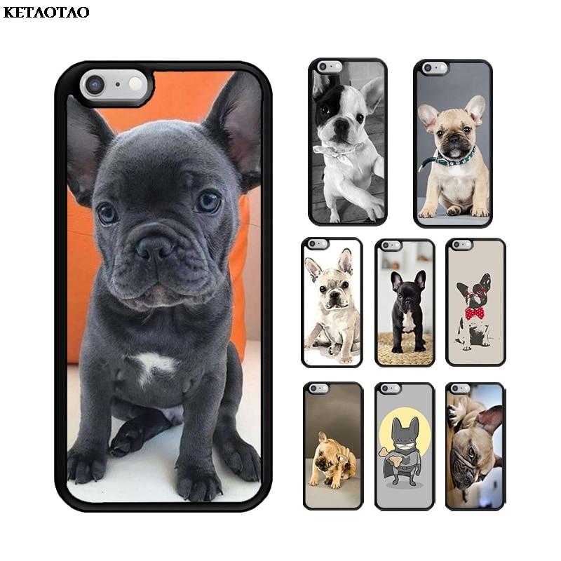 KETAOTAO Animal Bulldog francés suave de TPU caja del teléfono de silicona para iPhone 5S 6S 6 7 8 Plus XR XS 11 ProMax para Samsung