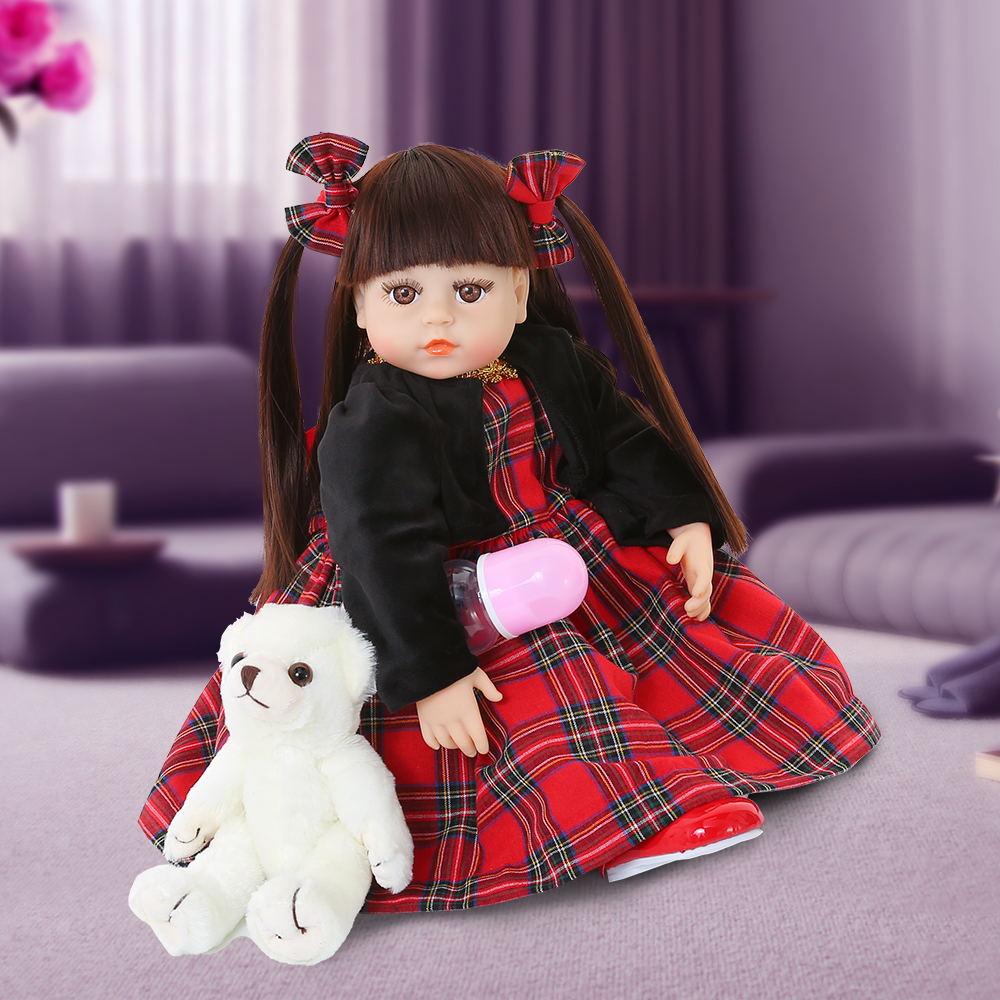 48cm רך סיליקון יילוד תינוק בובת 19 אינץ Reborn תינוקות בובות פעוט ממולא המציאותיות Bonecas בובת צעצועי עבור ילד