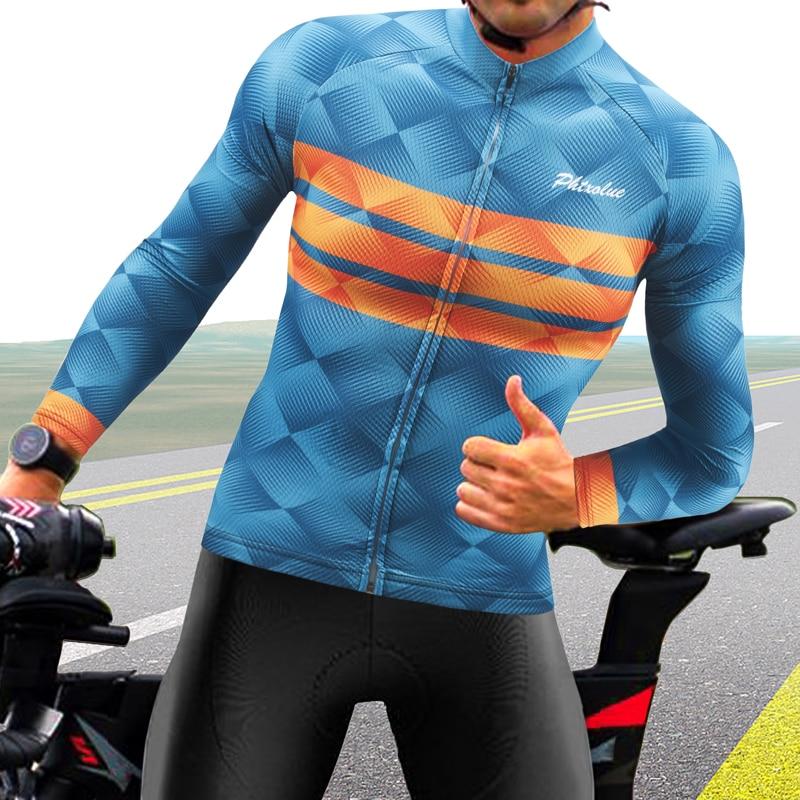 Phtxolue-قميص ركوب الدراجات ذو أكمام طويلة, يسمح بالتهوية ، ملابس الدراجة الجبلية ، الخريف ، الصيف