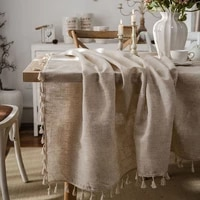 tablecloth cotton and linen tapete rectangular tablecloth for table nappe de table tassel table cover tafelkleed mantel mesa