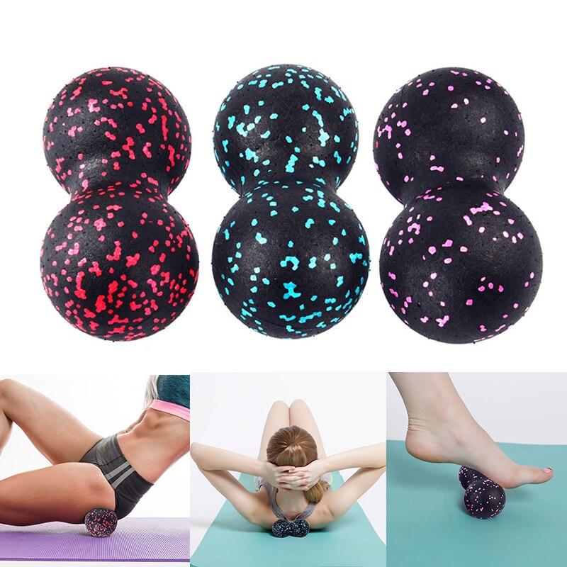 EVA Peanut Massage Ball Myofascia Relaxation Fascia Pain Relief Relieve Roller Yoga Exercise Fitness Equipment Supplies