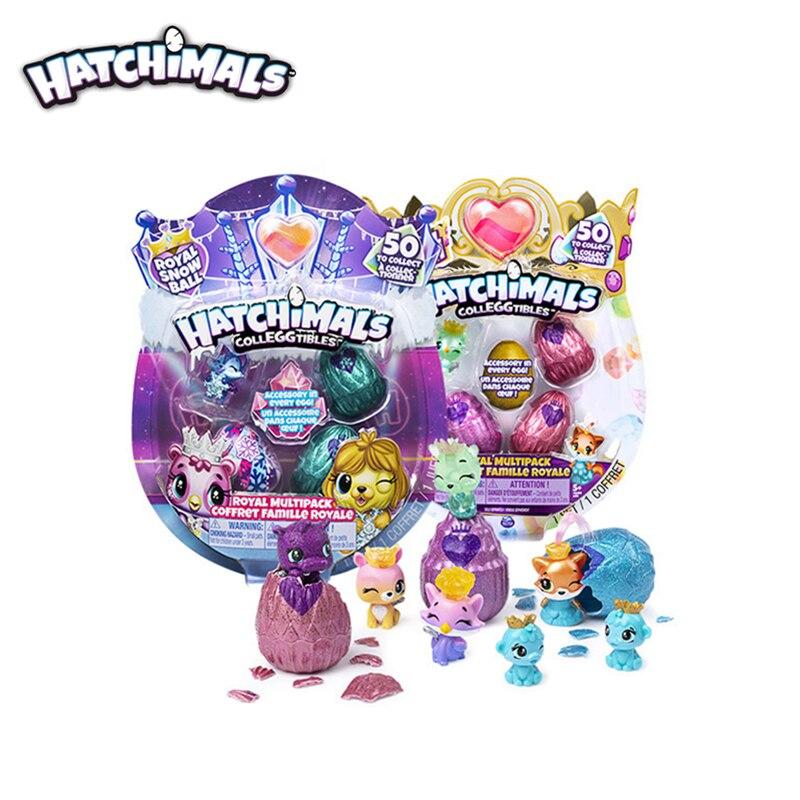 Genuino S6 Hatchimals Colleggtibles la escotilla real Envase múltiple Coffret Famille Royale huevo mágico ciego de los niños juguete para regalo