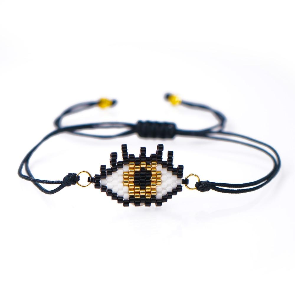 Go2boho mal olho pulseira menina presente olho turco pulseras miyuki grânulo pulseiras feminino jóias 2020 artesanal atacado