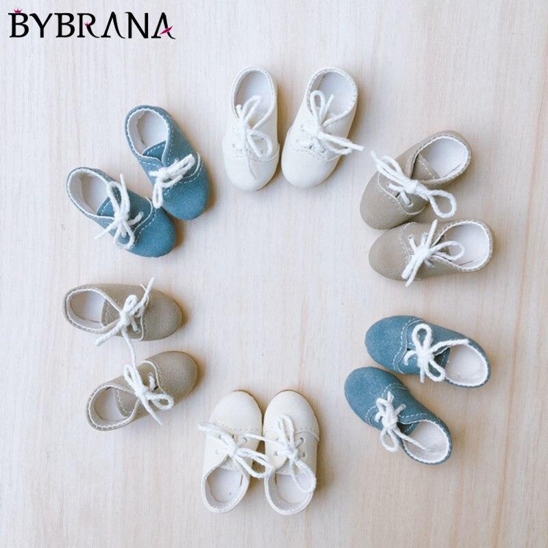 Bybrana SD BJD/маленькая кожаная обувь в стиле ретро; Обувь на плоской подошве с ремешком; Обувь с круглым носком; Ручная работа