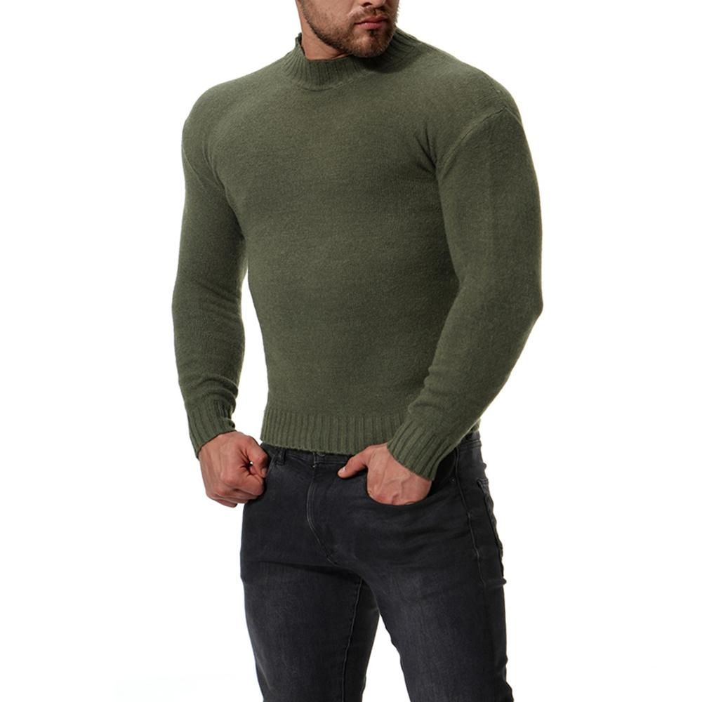 2021 New Sweater Men'S Solid Color Casual Male Sweater