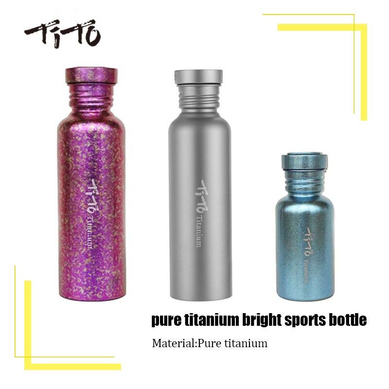 TiTo-زجاجة ماء من التيتانيوم الخالص ، طقم مشروبات للدراجة ، التخييم في الهواء الطلق ، غطاء التنزه ، زجاجة رياضية ، غلاية