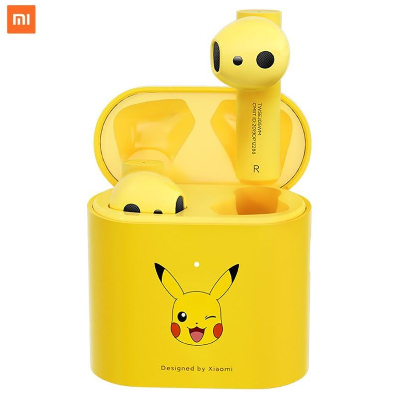 Real Original Xiaomi Mi Pokémon Ash's Pikachu True Wireless Earphones Air 2S Bluetooth Headset Stereo Sport Customized Version