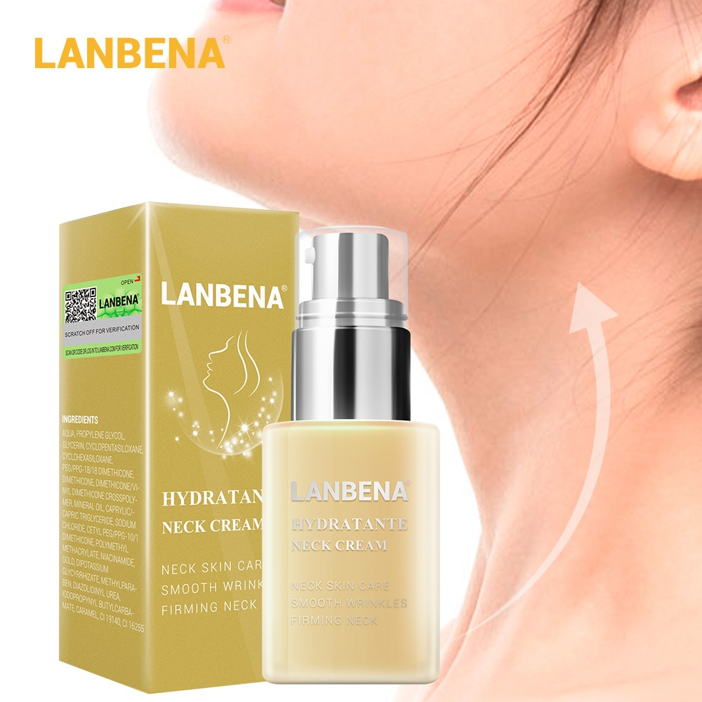 LANBENA Hydrating Neck Cream Neck Mask Anti aging anti Wrinkle Firming Moisturizing nourish Reduce Fine Lines neck Skin Care 45g