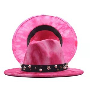 2021 New men and women's Fashion Fedoras autumn and winter jazz hat Double-sided tie-dye wool hats Fitted Cap for Men and Women