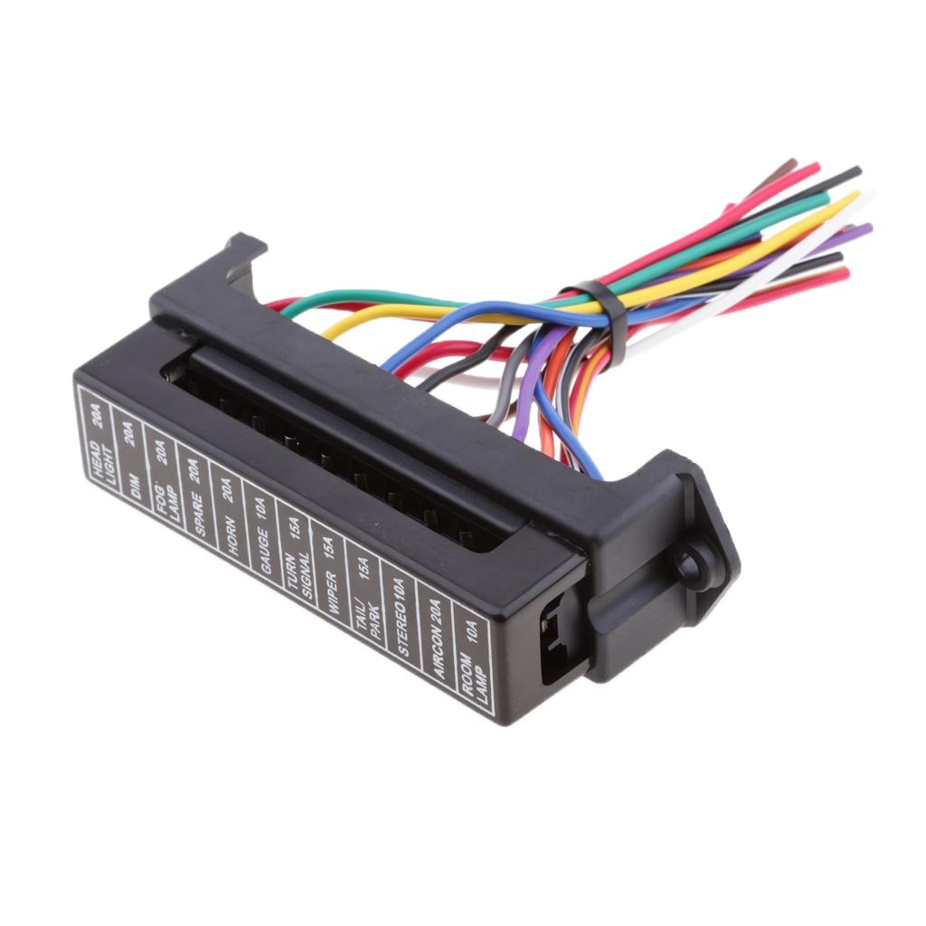 Support de la boîte à fusibles   Voiture, camion automobile 12 voies ATC/ATO lame support de la boîte avec harnais de fil