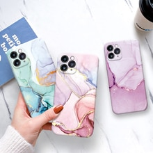 Marble Crack Matte Phone Cases For iphone 12 mini 11 Pro Max SE 2020 XS Max XR X 7 8 Plus Case Cover
