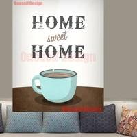 Peinture diamant theme cafe  autocollant mural  broderie 5d  carre  maison  famille douce  amour  mosaique  diy bricolage