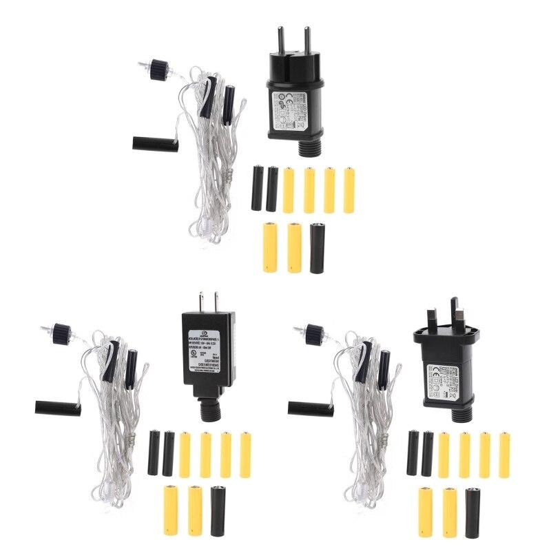 3in1 aa + 2aaa bateria adaptador de alimentação substituir lr6 aa aaa bateria eliminador 28te