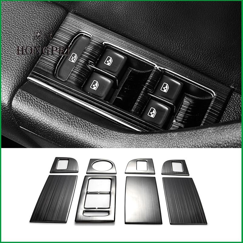 Para Skoda Octavia A7 LHD 2014-2018 manija de puerta Interior ventana elevación Panel cubierta de botón de interruptor pegatina molduras embellecedoras