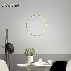 Simple LED Pendants For Kitchen Dining Table Bedroom Living Room Coffee Bar Villa Restaurant Foyer Indoor Home Aluminum Lights