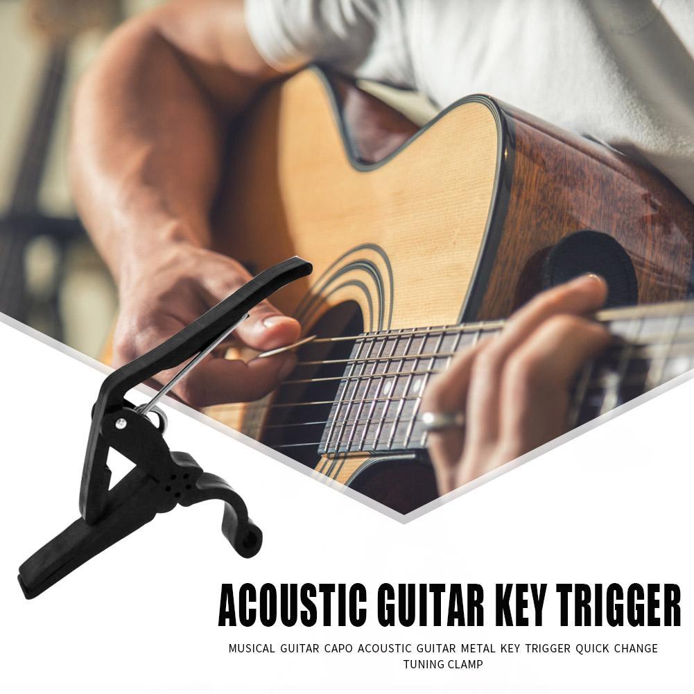 Cejilla de Metal guitarra acústica disparador clave ukelele de cambio rápido abrazadera de afinación Accesorios para Instrumentos Musicales