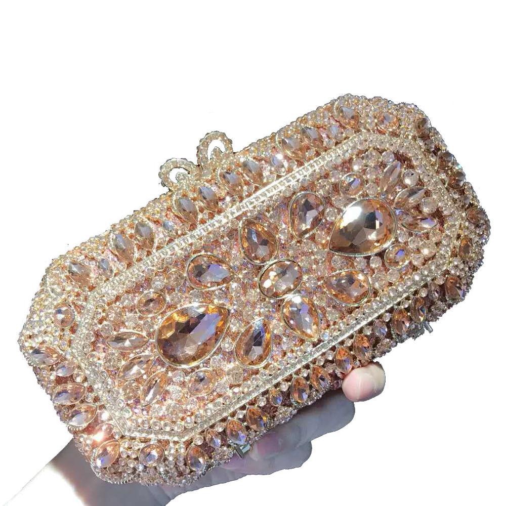 مستطيل المرأة مخلب المحفظة مساء حقيبة براثن الفاخرة الصغيرة حجر الكريستال minaudio ere حقيبة الزفاف حقيبة يد صندوق صغير مأدبة حقيبة