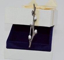 Nouveau 1 PC naturel prune artificielle perles marron antiquités peinture rétrovintage manteau broche Badge émail broches pour offre spéciale