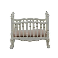 dollhouse 112 scale miniature furniture wooden white baby shaker