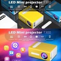 T300 110-240V Mini PROJECTEUR LED 1080P AV COMPATIBLES HDMI USB Audio Home Cinema Projecteur de Cinema Maison Lecteur Video