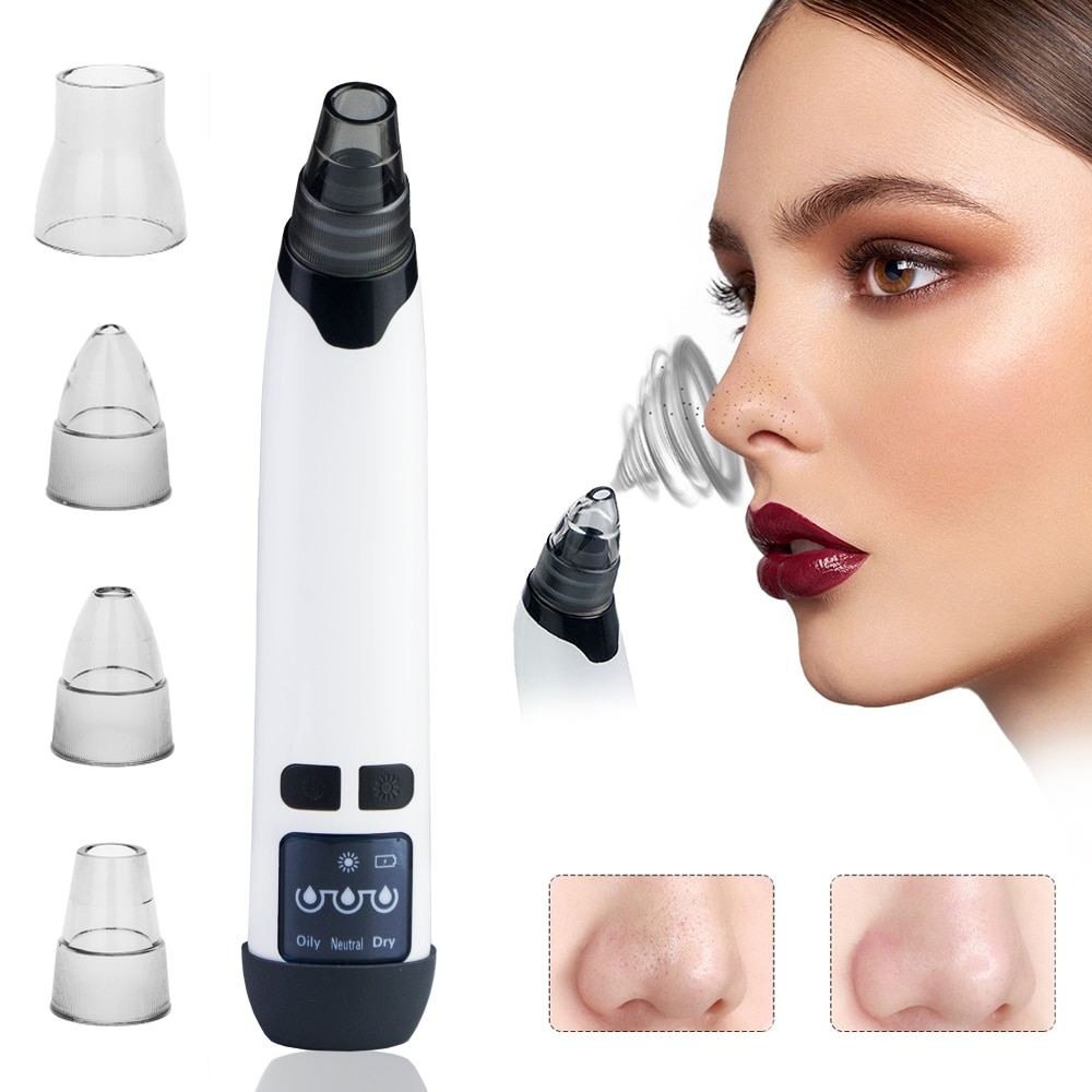 Blackhead Remover Pore Vacuum Cleaner Electric Heating Face Massage Acne Black Dots Black Head Extractor Skin Care Tool