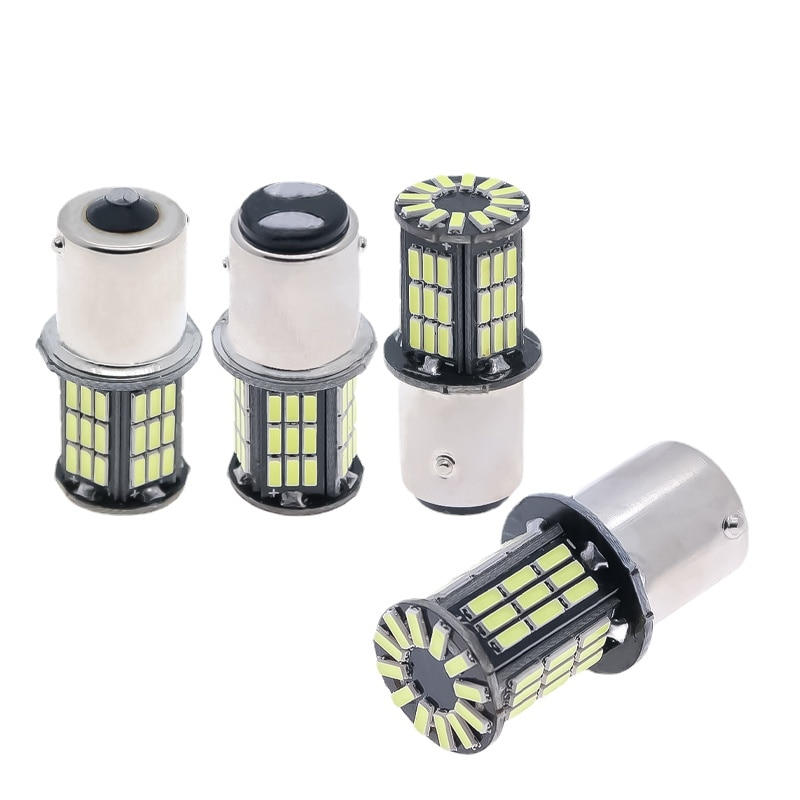 10 шт. 1156 P21W PY21W 1157 BAY15D светодиодная CAN-шина автомобильная лампа янтарного света 3014 57smd с индикатором объектива Автомобильная Лампа 12 В