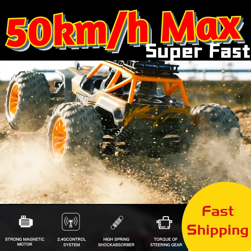 RC Car 50km/h High Speed Quality 4WD Racing Truck Cars Crawler Big Foot Off Road Remote Control Drift Toy for Kids Gift Boys 2018 new zd racing rc car tx 16 1 16 4wd driver off road cars rtr with 2 4g 3ch remote control car for children kids gift toys