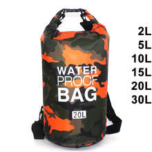 30L водонепроницаемая сумка для плавания, сухой мешок, камуфляж, цвета, для рыбалки, гребли, каякинга, для хранения, дрейфующий рафтинг, сумка ...