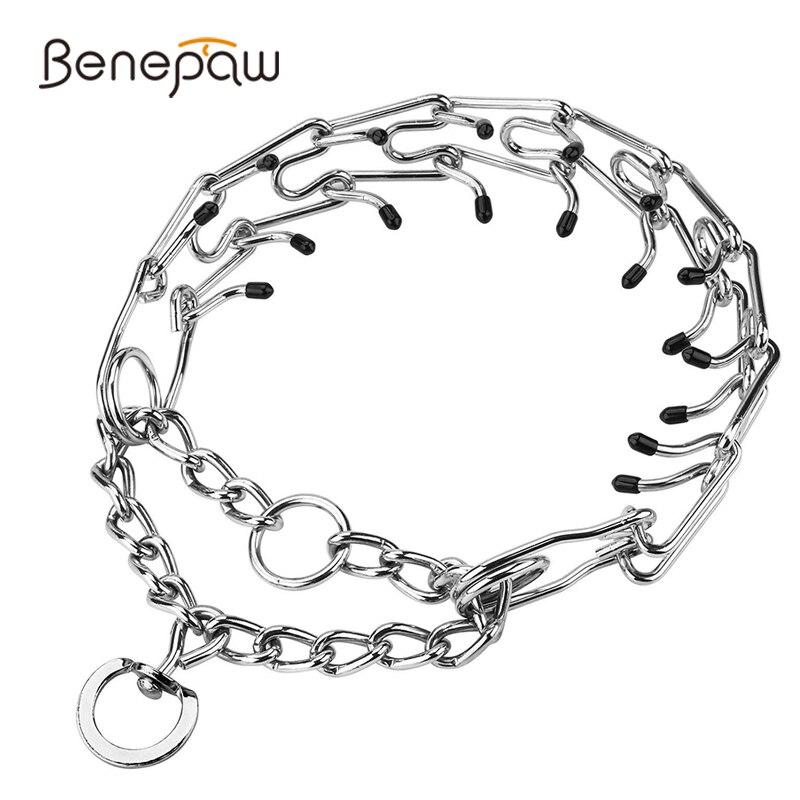 Benepaw-Collar efectivo para entrenamiento de perros, con puntas de goma cómodas, desmontable ajustable, de acero inoxidable, Collar de dientes para mascotas