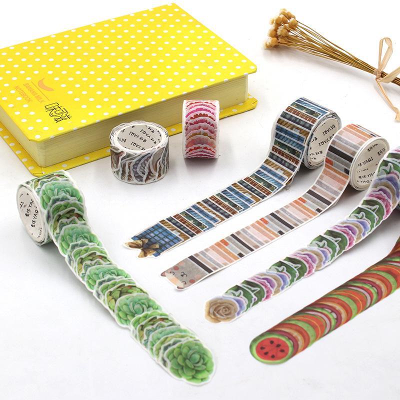 200 PCS/Roll Masking Petals Tape Washi Gift Rose Shape Tape Scrapbook Sticker Sticky Paper