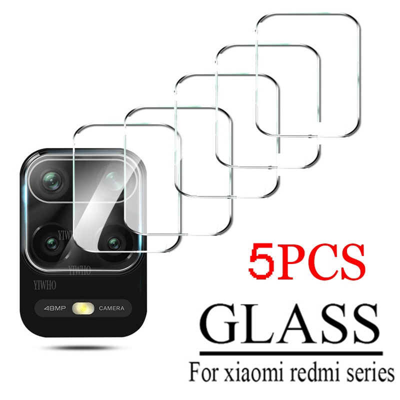 5Pcs for Xiaomi Redmi Note 9 Pro 9S 10 Pro 9 9T 5G 9c NFC 8t 9a 8 Camera Lens Protector Tempered Glass Back Screen Redme 8a Glas