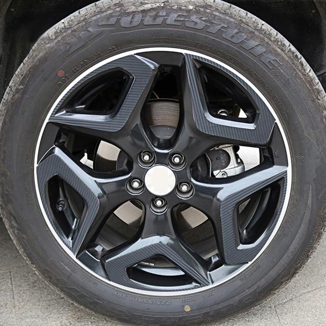 Auto Wheels Tire Trim Carbon Fiber Stickers Decals Cover Protection For Subaru XV 2018 2019 2020 2021 Car Exteriors Accessories